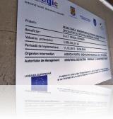 panou fonduri europene gravat in aluminiu compozit de 3mm