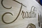litere gravate mecanic in lemn