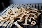 litere lemn  decupaje