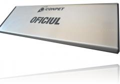 model 8 - aluminiu cu placuta gravata din inox