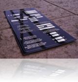 placa timbru gravata in aluminiu negru