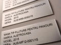 etichete gravate laser  in aluminiu eloxat