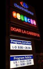 18. totem luminos modular Carrefour, Felicia- Iasi